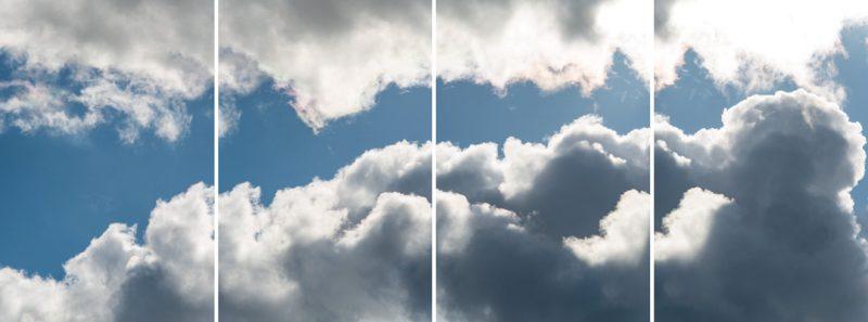 Denis Farley, Espace aérien, séquence no 1, 2016, épreuves au jet d'encre / inkjet prints 244×92cm