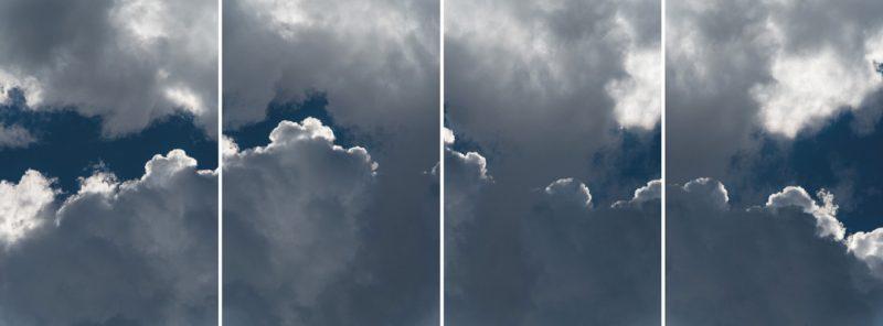 Denis Farley, Espace aérien, séquence no 3, 2016, épreuves au jet d'encre / inkjet prints 244×92cm