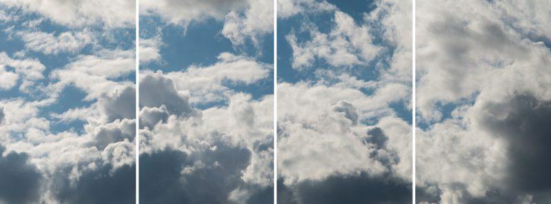 Denis Farley, Espace aérien, séquence no 2, 2016, épreuves au jet d'encre / inkjet prints 244×92cm