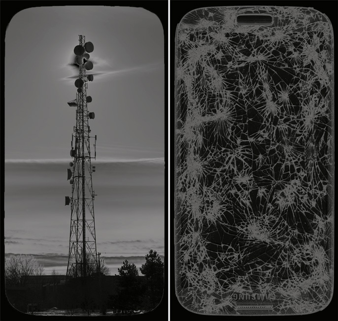 Denis Farley, Network, Technopark, Kanata; Network, Samsung, 2016, épreuves au jet d'encre / inkjet prints 48 × 92 cm