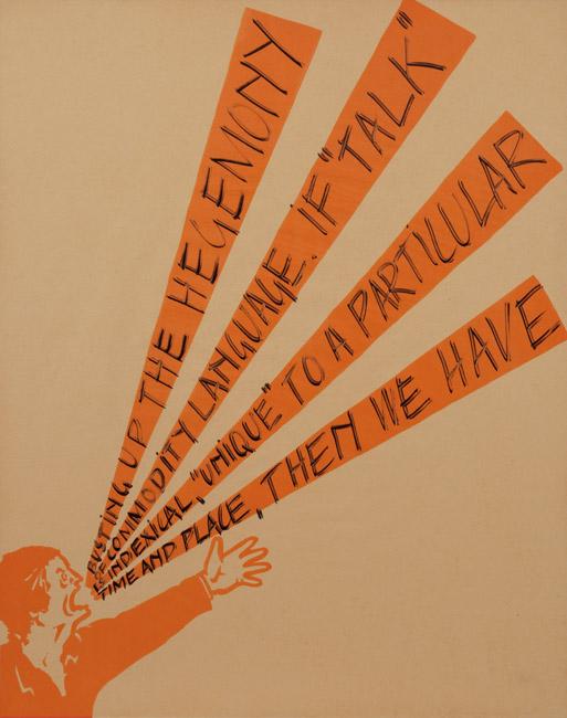 Art & Language, Shouting Men (detail / détail), 1975, screenprint and felt pen on paper / sérigraphie et feutre sur papier, 9 sections of/de 75 × 61 cm (each/chac.), MACBA – Museu d'Art Contemporani de Barcelona