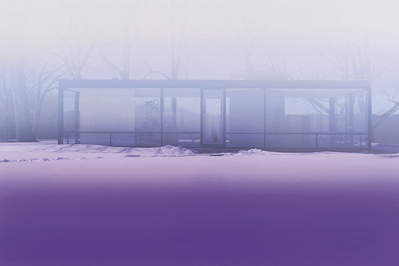 James Welling, Glass House (Lavender Mist), 2014, inkjet print (Epson 9900 print on Museo Silver Rag), 84 × 127 cm, courtesy of Marian Goodman Gallery