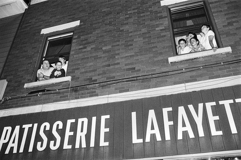 Jean-François Leblanc, Feu rue Ontario Est. 1986.