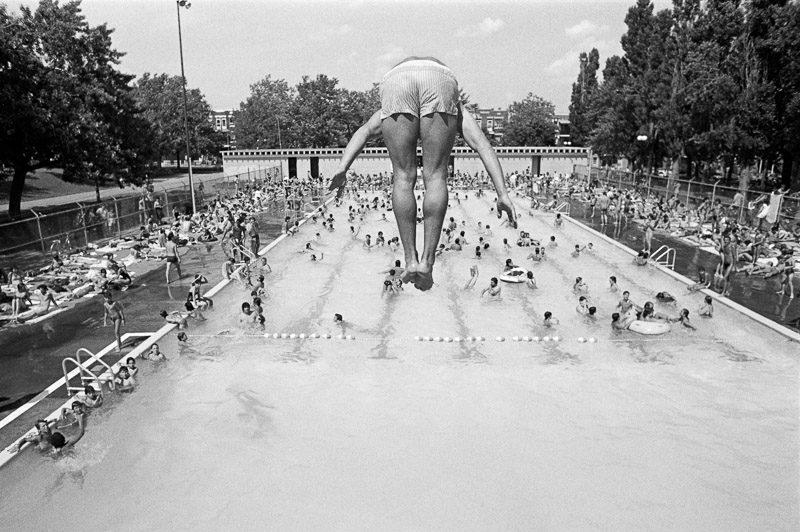 Jean-François Leblanc, Plongeon à la piscine Laurier un jour de canicule. 1985