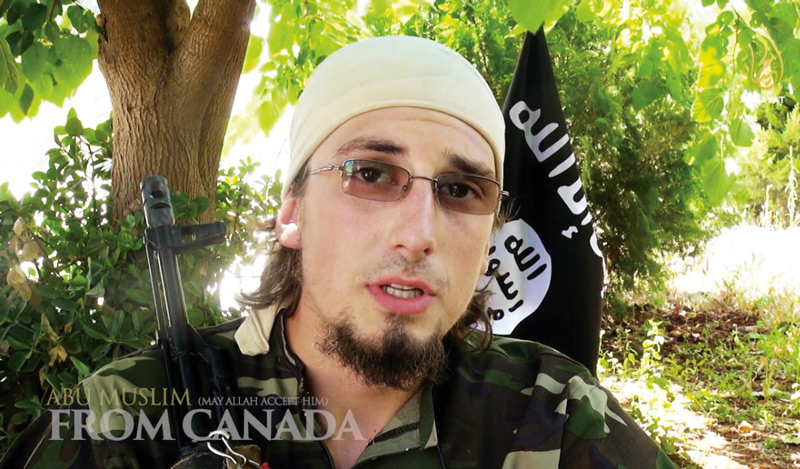 Sheila Pree Bright, Abu Muslim from Canada [Andre Poulin], an ISIS recruitment film, 2014, extrait vidéo