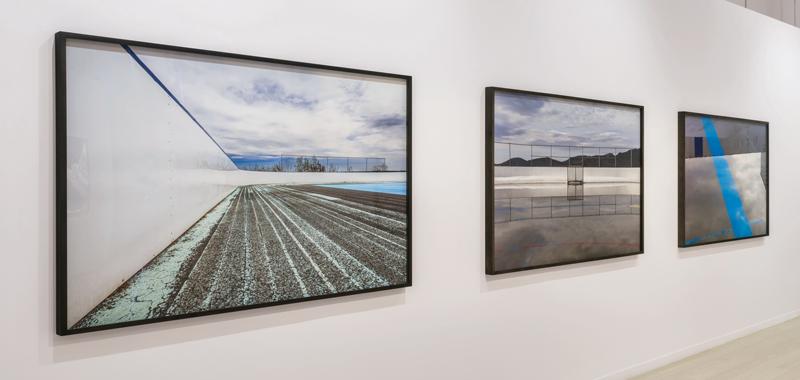 Ivan Binet, Patinoire 1, Mine and Ligne bleue, 2016, inkjet prints, photo : Guy L'Heureux