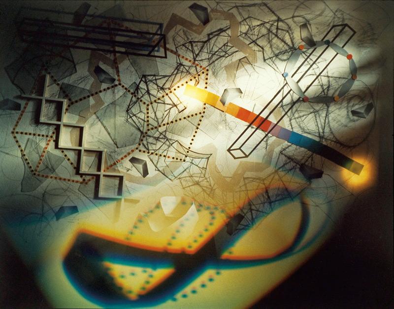 Serge Tousignant, L'oblique piégée, 1988, épreuve couleur, 127 × 130 cm