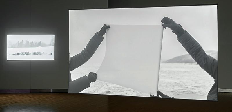 Sara A. Tremblay et Léna Mill-Reuillard, Géographies : recomposées. S'ensevelir, vue d'exposition