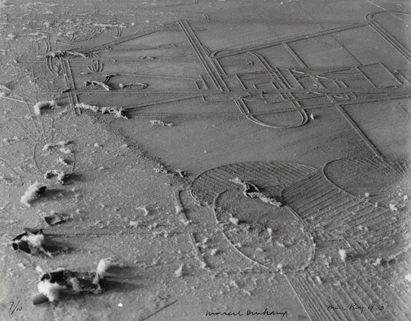 Marcel Duchamp / Man Ray, Élevage de Poussière (Dust Breeding), 1920, silver gelatin print (printed 1968), © Man Ray Trust/ADAGP, Paris and DACS, London 2017, courtesy Galerie Françoise Paviot, Paris
