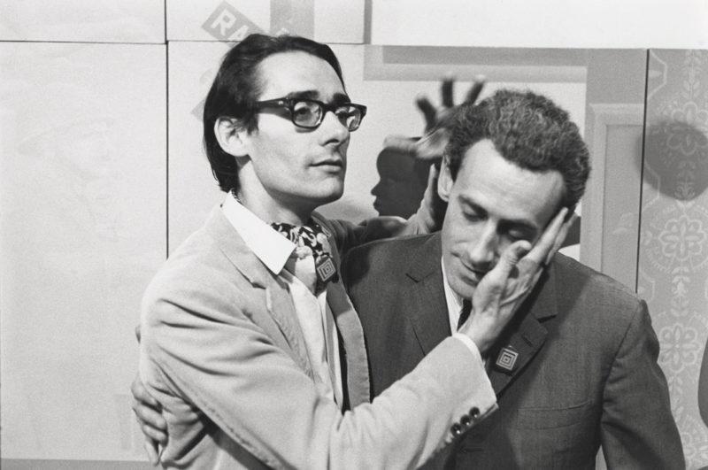 Gabor Szilasi, François Dallegret and Yves Gaucher at an opening at the Galerie Godard Lefort, Montreal, September 1968 / François Dallegret et Yves Gaucher lors d'un vernissage à la Galerie Godard Lefort, Montréal, septembre 1968
