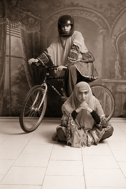 Shadi Ghadirian, Qajar, 1998, permission / courtesy Silk Road Gallery