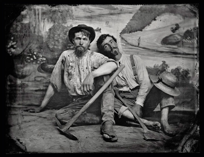 Unknown photographer, Portrait of an Unidentified Pair of Prospectors, c. 1860, tintype, 8 × 11 cm, photo: CIP/NGC