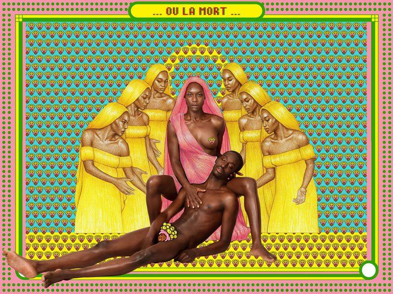 Pierre-Christophe Gam, « La Patrie B », Sankara: The Upright Man, 2017. Collage mixte, tirage sur papier Hahnemühle, 133 x 100 cm. Bridge, Villa Rouge, Dakar, exposition proposée par le MuPho.