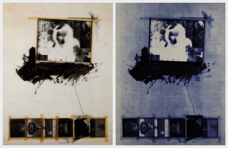 Charles Gagnon, Millerton, 1971, épreuve Ozalid / blueprint, collection du Musée des beaux-arts du Québec