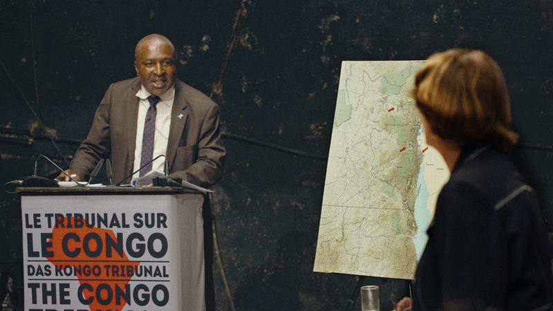 Milo Rau, Le Tribunal sur le Congo, film documentaire, image fixe, 2017, 100 min