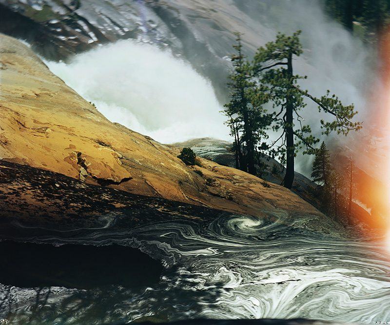 Ansley West Rivers, Water Wheel Falls, Grand Canyon of the Tuolumne River, California, 2014, impression pigmentaire de qualité archive, 102 × 127 cm, permission de l'artiste