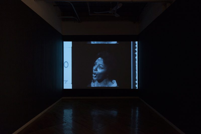 Deanna Bowen, The Promised Land, 28:23 minutes, 16mm transferred to video, black and white, 2019. Originally from The Promised Land from Heritage, CBC Broadcasting Corporation, 1962. Image credit: Darren Rigo
