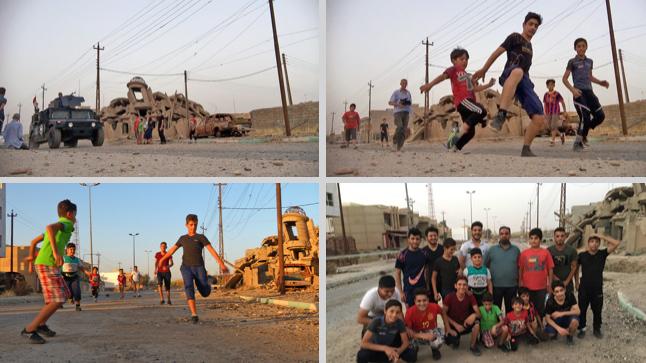 Francis Alÿs, <em>Children's Game #19: Haram Football</em>, Mosul, Irak (2017)