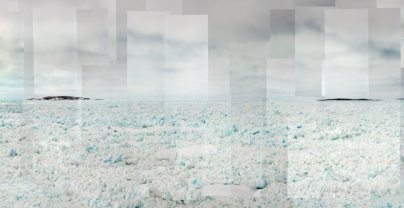 Alain Lefort, <em>Agiaq et Qikirtaaruk, Ivujiviup</em>, 2020, impression numérique sur polypropylène / digital print on polypropylene, 140 × 339 cm