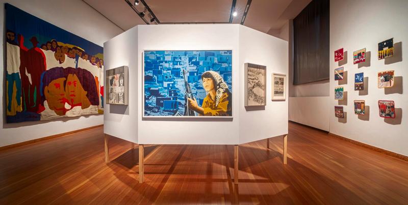 Vue de l'installation Museo de la Solidaridad Salvador Allende, Berlin Biennale, 2020, photo : Mathias Völzke