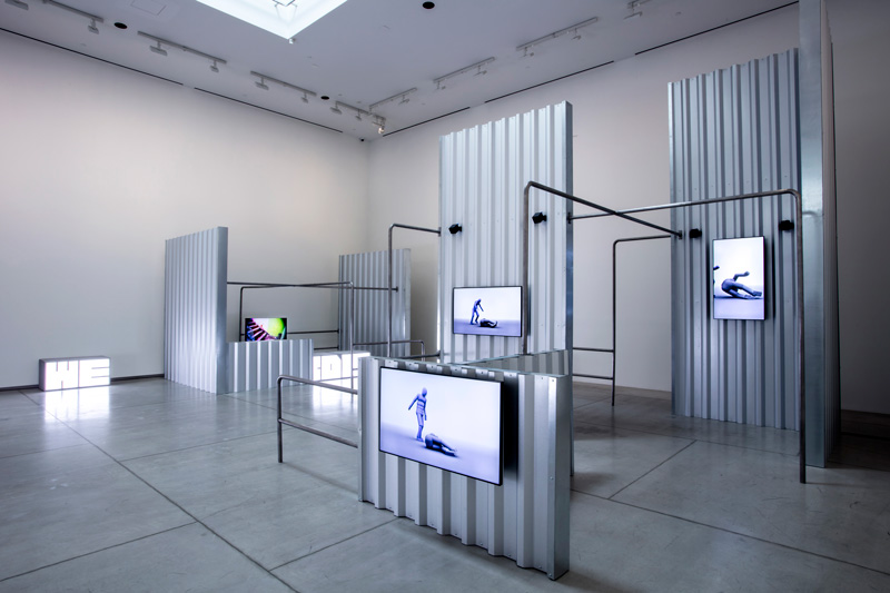 Hito Steyerl, HellYeahWeFuckDie, 2016, installation view, Art Gallery of Ontario, 2019, courtesy of Andrew Kreps Gallery, New York, and Esther Schipper, Berlin, photo : Art Gallery of Ontario